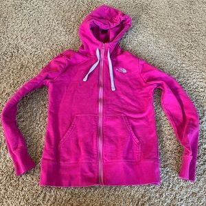 The North Face zip up hoodie small